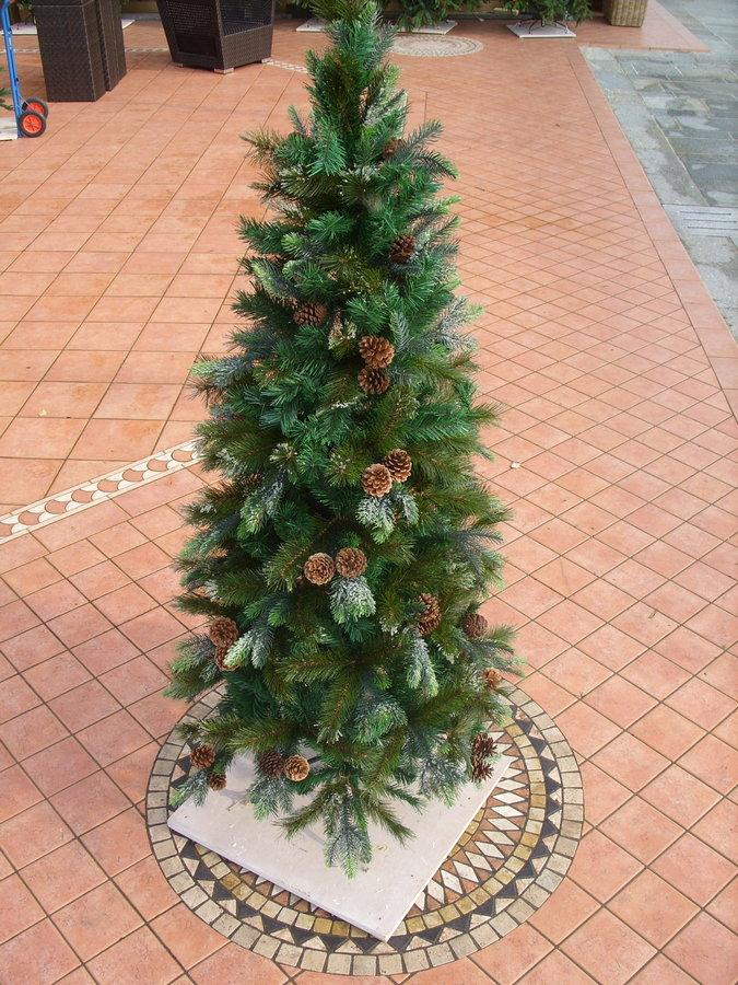 Albero Di Natale Con Pigne.Albero Di Natale Verde Con Brina Ghiaccio Pigna Pigne Naturale In 5 Altezze Modello Hjt 91 120 150 180 210 240 Cm Menghini Bambu Vimini