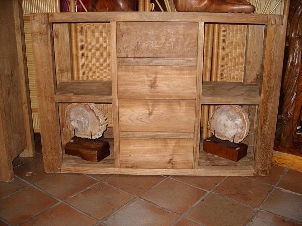 Credenza Con Cestini : Credenza cassettiera buffet per sala soggiorno in legno grezzo