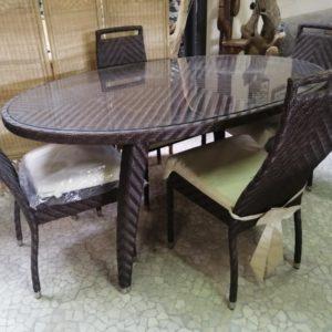 Tavoli E Tavolini Menghini Bambu Vimini